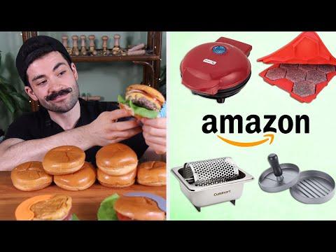 Pro Chef Reviews Amazon Burger Gadgets • Tasty