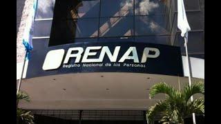 Oficinas registrales de Renap estarán cerradas este martes