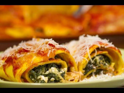 Cannelloni sa špinatom i svježim sirom - Fini Recepti by Crochef