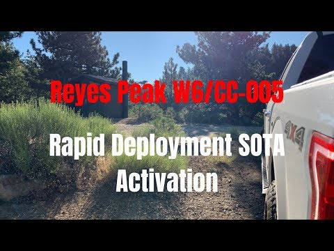Fast Ham Radio SOTA Activation on Reyes Peak - Rapid Deployment