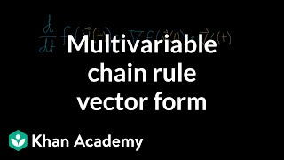 Vector form of the multivariable chain rule