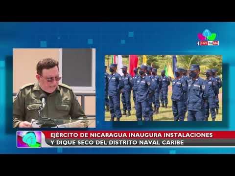 Ejército de Nicaragua inaugura instalaciones y dique seco del Distrito Naval Caribe