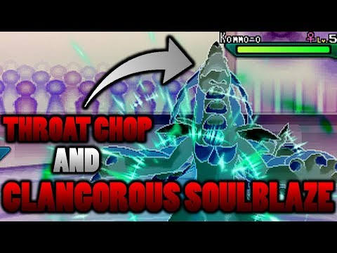 connectYoutube - Does Throat Chop Block Kommo-o's Clangorous Soulblaze Z-Move In Pokemon Ultra Sun and Moon?