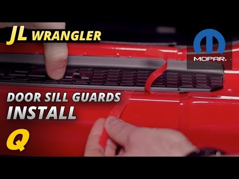 How To Install Mopar Door Sill Guards for 2018 Jeep Wrangler JL