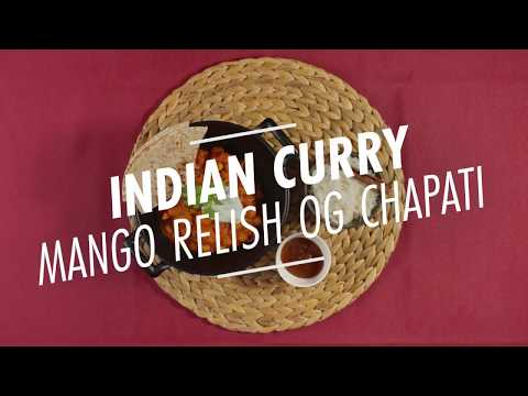 Indian Curry med mango relish og chapati