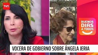 Vocera de Gobierno sobre Ángela Jeria: