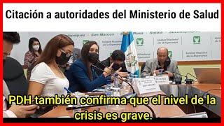 Citación a autoridades del Ministerio de Salud