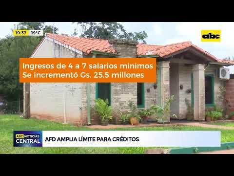 AFD amplía límite para créditos