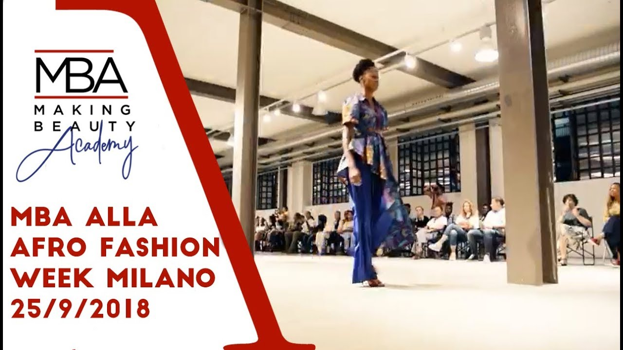 MBA alla Afro Fashion Week Milano 25/9/2018
