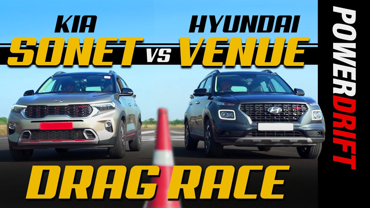 Kia Sonet vs Hyundai Venue | Drag Race | Episode 1 | PowerDrift
