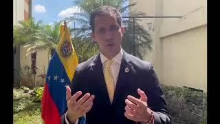 Mensaje del opositor Juan Guaidó a dominicanos, a través del artista Maffio