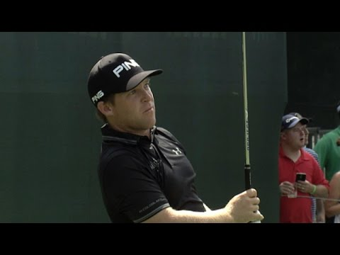 Daniel Summerhays hits fabulous tee shot on the difficult No. 17 at The Barclays