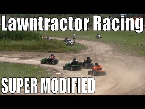Super Modified Class Lawntractor Racing At Western Ontario Outlaws July 21 2019