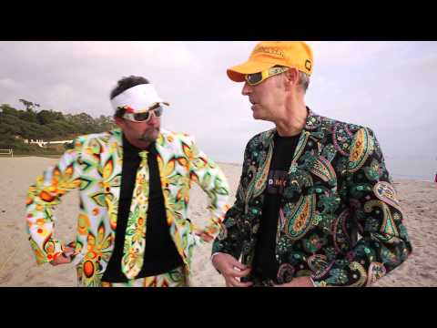 Loudmouth Golf's Larry and Woody VS. 2008 Gold Medal Beach Volleyball Winners