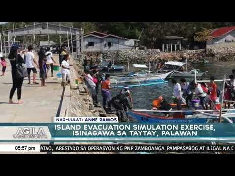 Island Evacuation Simulation Exercise, isinagawa sa Taytay, Palawan