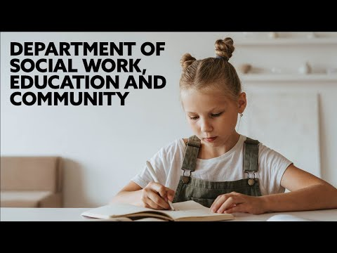 Department of Social Work, Education and Community Wellbeing