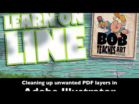 How to clean up PDF's that are showing unwanted or hidden layers using Adobe Illustrator