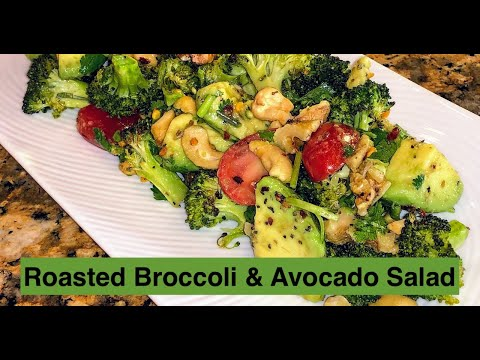 Roasted Broccoli and Avocado Salad | Show Me The Curry
