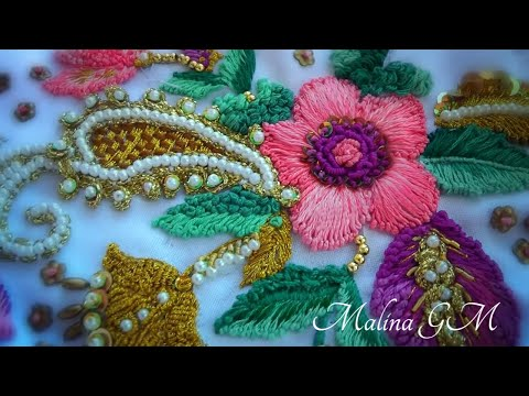 Beautiful hand embroidery easy stitches | hand stitch