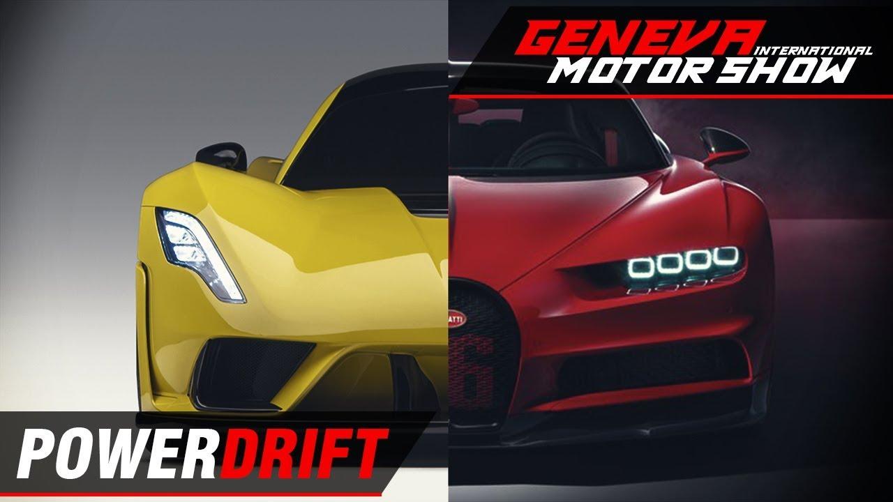 ബുഗാട്ടി ഷിറോൺ sport~ hennessey venom f5 ft. aditya patel : geneva motor show 2018 : powerdrift
