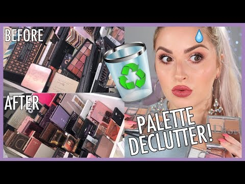 NEUTRAL & WEARABLE Eyeshadow Palettes ? ORGANIZE AND DECLUTTER MY MAKEUP COLLECTION! ?