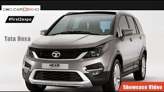 #first2expo : Tata Hexa | Showcase Video | CarDekho@AutoExpo2016 CarDekho  CarDekho