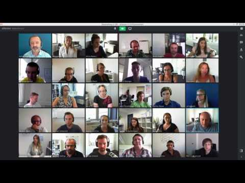 alfaview® - Lippensynchrone Videokonferenz mit 30 Teilnehmern