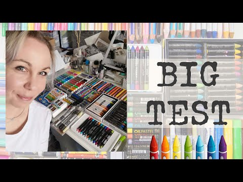 Which to choose ? Art Journaling 12 Art Crayons TEST ✂️ Maremi's Small Art