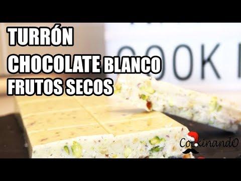 TURRON CHOCOLATE BLANCO Y FRUTOS SECOS