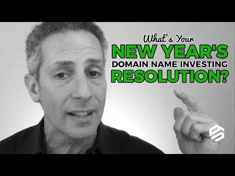 What's Your New Year's Domain Name Investing Resolution?