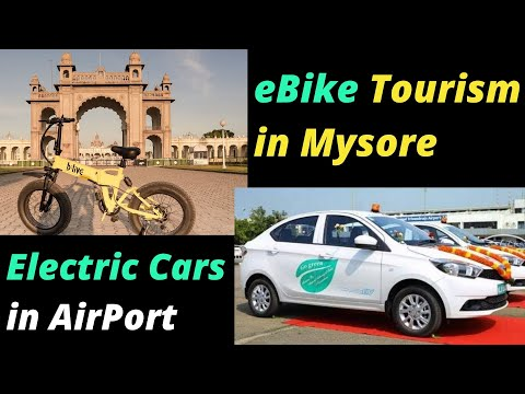 Electric Vehicles News 47: eBike Tourism in Mysore, Electric Cars in Airport, ZoomCar EVs 1Cr km
