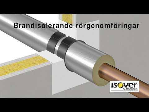 Brandisolerande rörgenomföringar med ISOVER