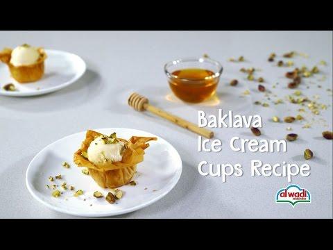 Baklava Ice Cream Cups Recipe