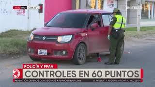 Policía activa 60 puntos de control y operativos anti-fiestas en Santa Cruz