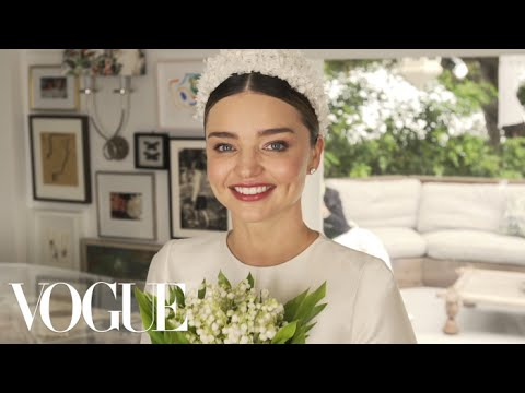 Watch Miranda Kerr's Fairy-Tale Wedding Dress Fitting | Vogue