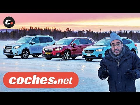 Subaru Winter Test | Impreza, XV, Forester, Outback, BRZ | Prueba / Review en español | coches.net