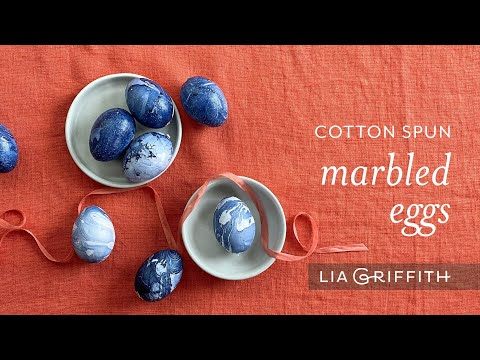 Cotton Spun Marbled Eggs