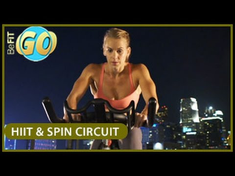 HIIT & Spin Circuit Workout for Fat Loss: 20 Min- BeFiT GO
