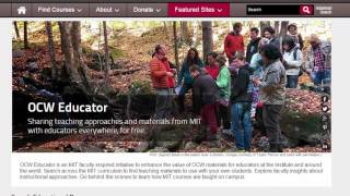 OCW Educator: Sharing teaching approaches and materials from MIT with educators everywhere, for free