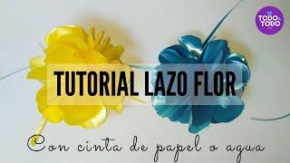 Cómo hacer un lazo o moño con cinta de papel o de agua Paso a paso. DIY.