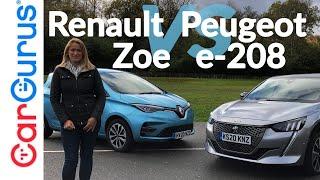 Renault Zoe 2020 vs Peugeot e-208: Битва электрических супермини