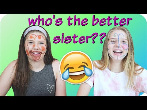 connectYoutube - WHO KNOWS ME BETTER CHALLENGE? || SISTER VS SISTER || Taylor and Vanessa