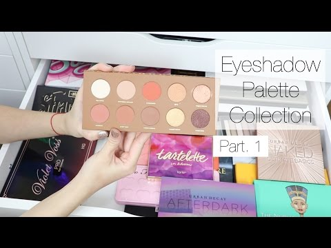 Makeup Collection + Storage | Eyeshadow Palettes