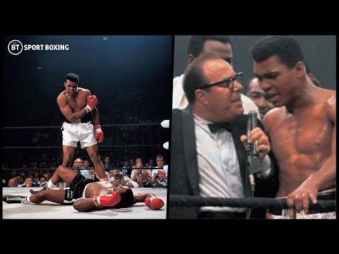 Muhammad Ali watches back and commentates on his Sonny Liston knockout 8