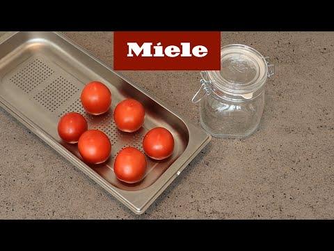 Konservera tomater i ångugn. Perfekt pizzasås I Miele