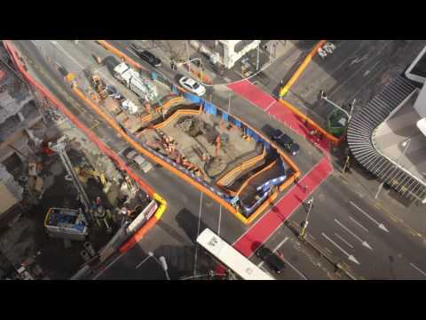 City Rail Link time lapse: Albert Street