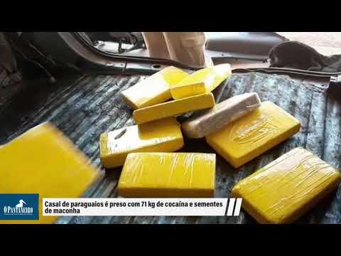 Casal de paraguaios é preso com 71 kg de cocaína e sementes de maconha
