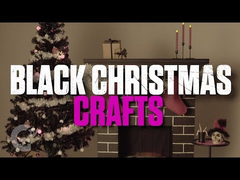 DIY Black Christmas Crafts | Sponsored - horror