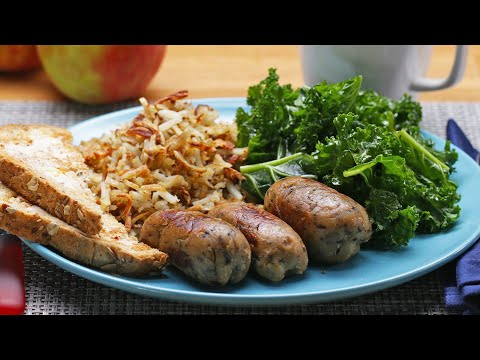 Vegetarian Breakfast Apple Sausages