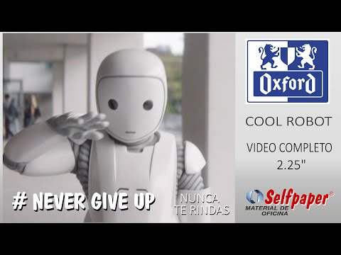 Libretas Oxford, Cool Robot, Video Completo - never give up - selfpaper